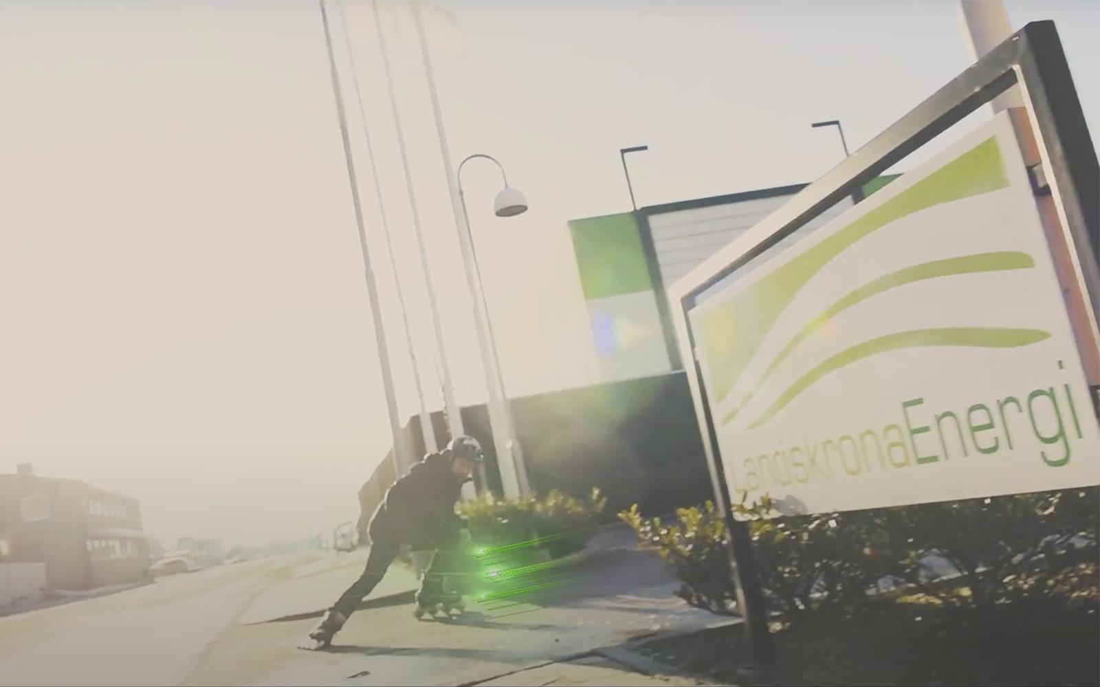 Landskrona Energi skylt